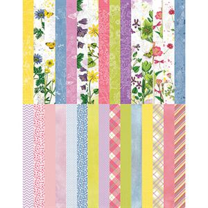 Picture of Pocket Floral Flourish Border Strips by Katie Pertiet - Set 30